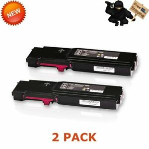 2x Magenta Toner For Xerox Phaser 6600 6600dn Workcentre 6605 6605dn 106r02226