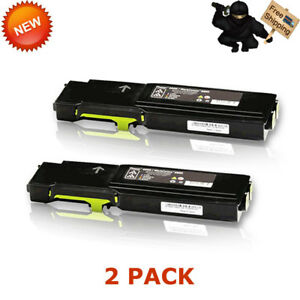 2x Yellow Toner For Xerox Phaser 6600 6600dn Workcentre 6605 6605dn 106r02227