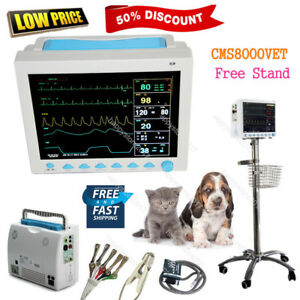 Us Fedex Cms8000vet Veterinary Patient Monitor Multiparameter Icu free Stand