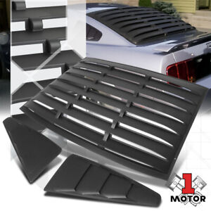 Black Rear Side 1 4 Window Louvers Sun Shade Cover Vent For 05 14 Ford Mustang