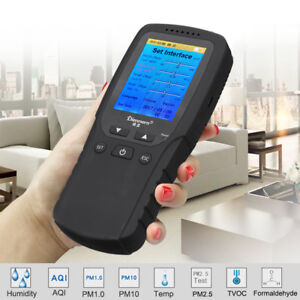 Pm2 5 Pm10 Hcho Tvoc Aqi Air Quality Detector Tester Monitor Formaldehyde Lcd