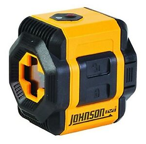 Johnson Level Tool 40 6603 Self leveling Cross line Laser Level With Pl New