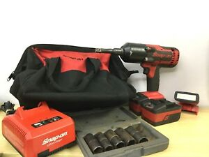 Snap On Cordless Impact Wrench Ct8850 1 2 Drive 18v Lithium Tool Kit