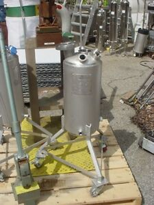 5 Gallon 316 Stainless Steel Jacketed Reactor 150 Psi