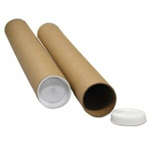 General Supply Round Mailing Tubes 12l X 2 Dia Brown Kraft 25 pack W