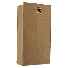 General Brown Kraft 12 Paper Bags 500 Count W
