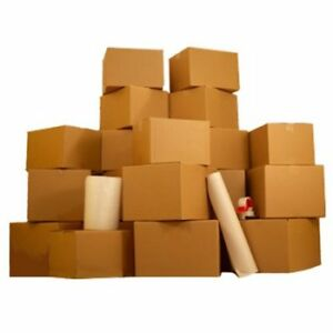 36 Moving Boxes 2 Room Basic Moving Kit Tape Bubble Packing Paper W