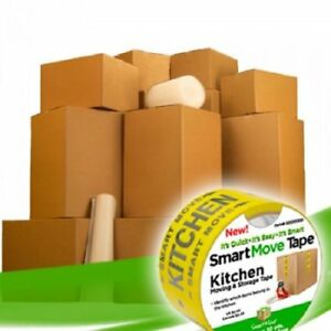Moving Boxes 2 Room Bigger Smart Moving Kit 28 Boxes tape More W