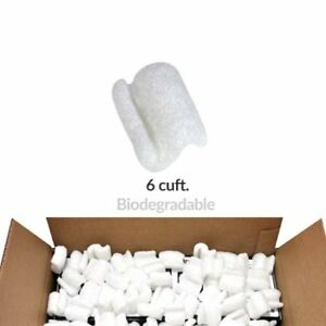 Packing Peanuts 6 Cuft Biodegradable Environmentally Friendly Void Fill W