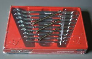 Brand New Snap On Tools 12 Piece Sae Combination Wrench Set 1 4 Thru 7 8