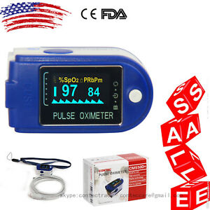 Pulse Oximeter Finger Pulse Blood Oxygen Spo2 Monitor Fda cms50d usb sw 24hr us