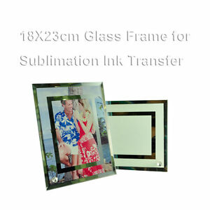 4pcs Blank Glass Photoframe For Sublimation Heat Transfer Christmas Craft