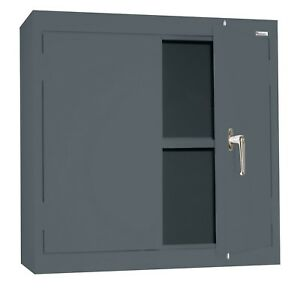 Sandusky Lee Wa11301230 02 Charcoal Steel Wall Cabinet Double Door 1 Ad New