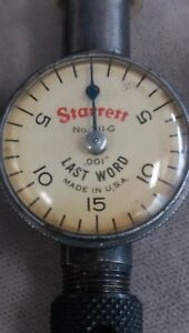 Vintage Starrett No 711 g Last Word Dial Test Indicator Usa W Case