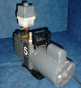 Edwards 5 E2m5 Rotary Vane Dual Stage Mechanical 1 2hp 1725rpm High Vacuum Pump