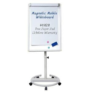 Mobile Dry Erase Board 40x28 Inches Magnetic Whiteboard New