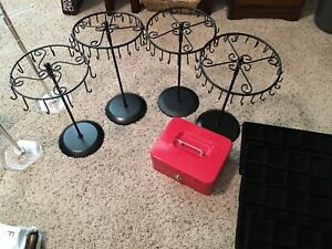 Jewelry Displays Necklace earring Mirrors Cashbox 300 Value