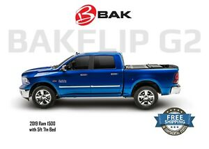 Bakflip G2 Tri Fold Tonneau Cover 2019 Dodge Ram 1500 5ft 7in Bed W O Ram Box