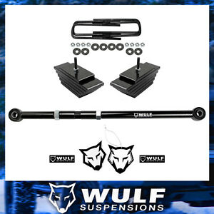 3 Front Lift Kit W Adjustable Trackbar 1999 2004 Ford F250 F350 Superduty 4x4