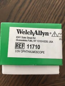 Welch Allyn 11710 3 5v Standard Ophthalmoscope New Sealed In Box