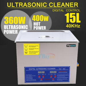Stainless Steel 15l Liter Industry Heated Ultrasonic Cleaner Heater Timer