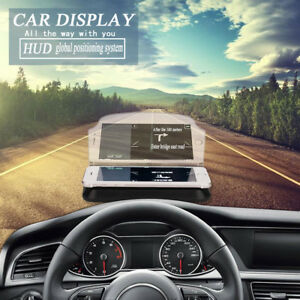Car Hud Obd2 Port Head Up Display Windows Screen Speed Projector Warning System