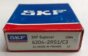 6204 2rs C3 10 Pcs Skf Double Sealed Precision Bearing Ships From Usa