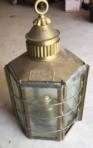 Antique Brass Copper 1869 Nautial Maritime Ship Boat Light Lantern