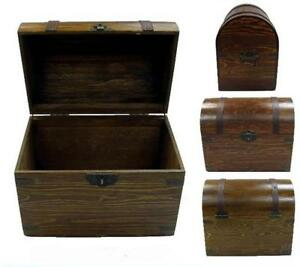 Large Wooden Treasure Chest Storage Box Novelty Old Looking S 201 Dentist Prizes