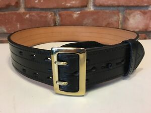 New Gould Goodrich Lined Duty Belt 4 Row Stitched Size 34
