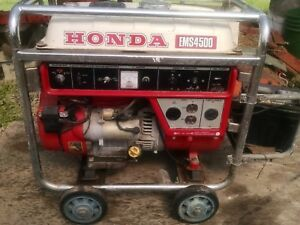 Honda Ems 4500 Generator Electric Start Dolly Very Good Condition