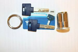 Mul t lock Mortise Cylinder 1 1 2 satin Nickel Interactive 206s Keyway Keys