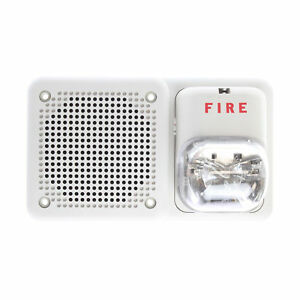 System Sensor Sp3w1224mc Spectralert Wall Mount Speaker Strobe 24v White