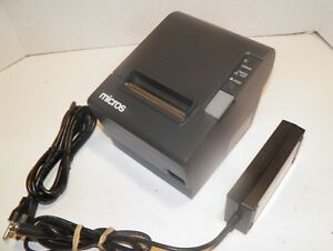 Micros Epson M129h Tm t88iv Thermal Pos Receipt Printer Idn Printer W Power
