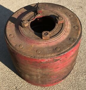 Farmall Sh H 300 350 Hv M Antique Tractor Ihc Belt Pulley With 4 Mounting Bolts