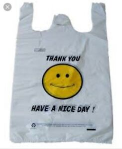 Plastic Shopping T shirt Grocery Bags Colors Sizes 1 6 1 8 1 10