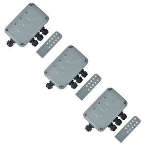 3set Outdoor Wireless Remote Control Power Switch Socket Box 3 way On off Ip66