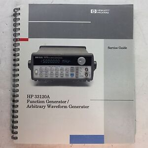 Hp 33120a Function Generator waveform Generator Service Guide P n 33120 90012