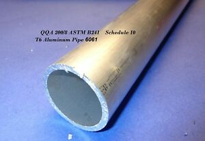 Aluminum Round Tubing 2 Od X 0 109 Wall X 48 Schedule10 6061 200 8 Astm B241
