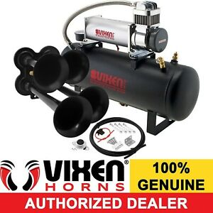 4 Trumpet Train Horn Full System 2 5g Tank 200 Psi Compressor Air Suspension Rdy