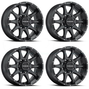 17x9 Raceline 930b Shift 8x6 5 8x165 1 12 Black Wheels Rims Set 4