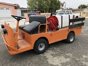 Taylor Dunn B2 48 Industrial Flatbed Electric Utility Cart Weed Sprayer