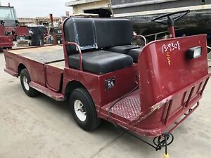 2007 Taylor Dunn B2 48 Industrial Flatbed Electric Utility Cart 48v System