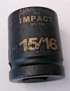 Armstrong 21 130 3 4 Drive 12 Point Impact Socket 15 16 Usa