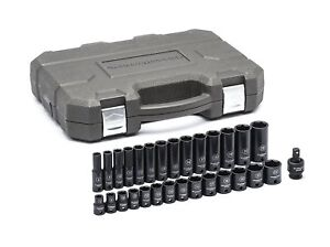 Gearwrench 84925n 29 Pc 3 8 Drive 6 Point Deep Impact Metric Socket Set