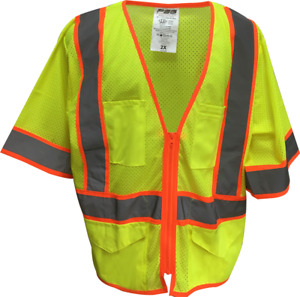 Ansi Class 3 Hi viz Safety Vest 2 tone Closeout Case Lot Of 50 Vests Xl