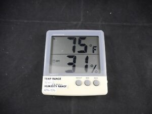 Fisherbrand Abs Plastic Traceable Jumbo Thermo humidity Meter 4 Lcd 11 661 19