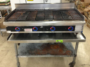 Star 48 Gas Char Broiler With Kcs Equipment Table