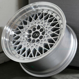 18x8 5 Jnc 031 Jnc031 5x100 5x120 35 Silver Machine Face Wheel Rims Set 4
