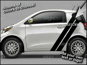2012 And Up Scion Iq Custom Vinyl Decal Graphics Dual Racing Side Stripes 1